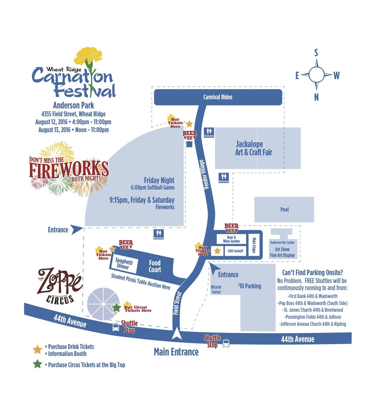 Carnation Festival Map